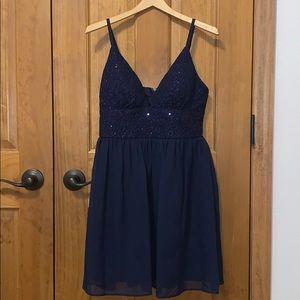 Brand new (never before worn) navy mini dress!
